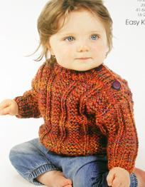 Wendy 5737 Baby Chunky Knitting Pattern For Ribbed Sweater Jacket