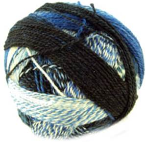 Zauberball Crazy 4 ply sock yarn, 2099 blue tweed