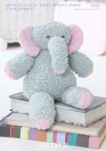 Sirdar 1350 chunky knitting pattern for Edwin the Elephant