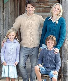 Aran sweaters Hayfield 7255