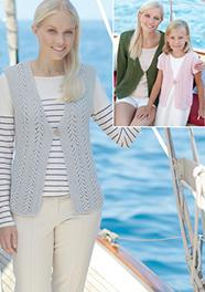 Aran sweater and cardigan Sirdar 7277, Digital Version