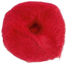 Unbranded finer weight mohair knitting Scarlet