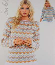 Knitting Patterns Modern Jumpers : Sublime 6084