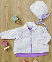 DK baby girls jacket and bonnet Sirdar 4894 Digital Download