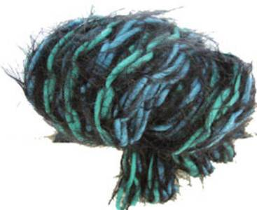 Katia Brooklyn scarf yarn, 58 aqua black