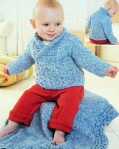 Sweater and blanket Sirdar 1379