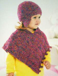 Poncho and hat Sirdar 1407