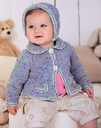 Sirdar 1493 girls cardigan and bonnet