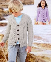 Aran cardigan Sirdar 2383 Digital Download