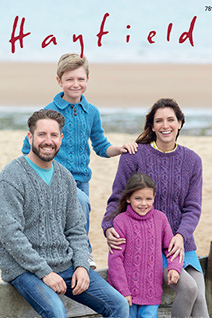 Aran Sweaters Hayfield 7897 Digital Download