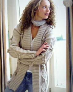 Women s Cardigan Knitting Pattern : Womens aran knitting patterns modern knitting