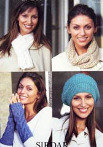 Scarf, hat, snood and armwarmers Sirdar 9496