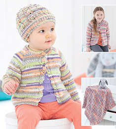 DK cardigan, hat and blanket Sirdar 4796 Digital Download