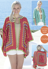 Crochet kimono jacket Sirdar 7739 Digital Download