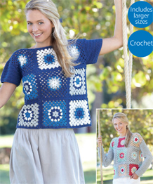 Hayfield Sundance pattern 8145 DK Crochet Tops PDF Download