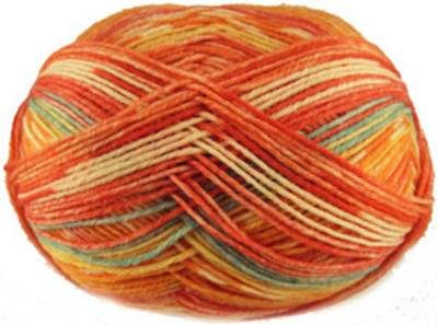 Austermann 6 ply sock yarn, 601 Spring