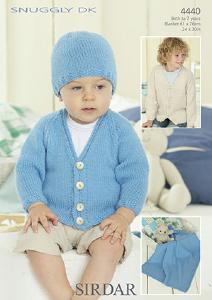 Cardigan, hat and blanket Sirdar 4440