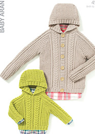 Aran sweater and jacket Sirdar 4532, Digital Version