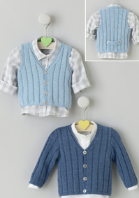 4 ply cardigan and waistcoat Sublime 6100, Digital Download