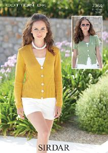 DK cardigan Sirdar 7084 Digital Download
