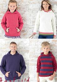 Aran family hoodies Hayfield 7256