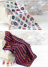 DK crochet Afghan blankets Sirdar 7257, Digital Version