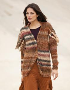 Womans fringed cardigan Katia Inca 7