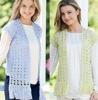 Crochet waistcoat, Sirdar 7218 Digital Download