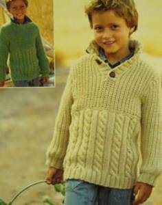 Aran sweater Sirdar 2314 Digital Download