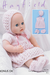 Hayfield 2482 DK dolls clothes, Digital Download