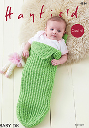 DK crochet baby girl's pod Hayfield 4834 Digital Download