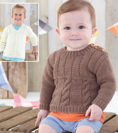 Aran child's sweaters Sirdar 4898 Digital Download