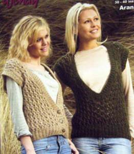 Aran waistcoat Wendy 5635 digital version