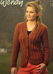 DK womans cardigan Wendy 5683, digital version
