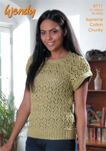 Chunky Lacy Top, Wendy 5711 digital version