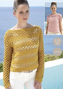 DK crochet sweater Sirdar 7075 Digital Download