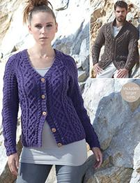 Aran cardigans Sirdar 7186 Digital Download