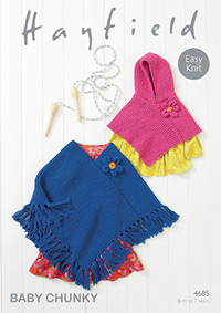 Chunky ponchos Hayfield 4685 Digital Version