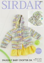 Crochet jacket and blanket in DK Sirdar 4871, Digital Download