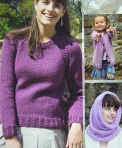 Chunky woman and girls sweater Wendy 5521 Digital version