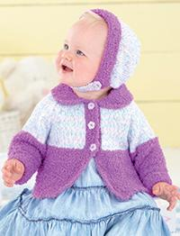 Sirdar 4544 girls cardigan and bonnet