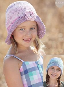 Girls and womans crochet hats Sirdar 7006