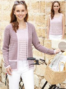 Cardigan and top Sirdar 7021