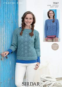 DK sweaters Sirdar 7047 Digital Download
