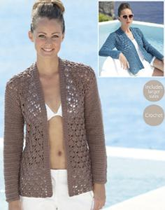DK crochet cardigan Sirdar 7071 Digital Download