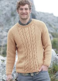 Sirdar 7146 mens DK knitting pattern for crew neck sweater