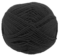 Cygnet Wool Rich 4 ply yarn, 2066, Black