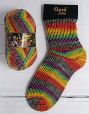 Opal sock yarn 9373 Firebird | Opal My Sock Design