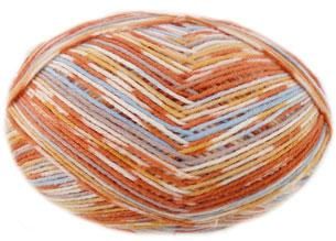 Regia Adventure 6 ply sock yarn 6086, Experiment
