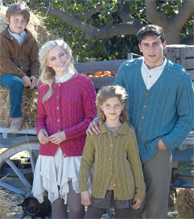 DK family cardigans Sirdar 7399 Digital Download